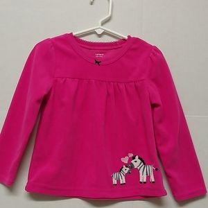 Carted Super Comfy Soft Pink Zebra Print Top